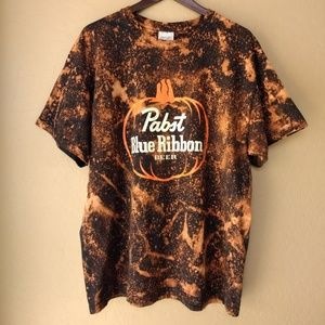 Pabst Blue Ribbon Custom Bleached Graphic Tee